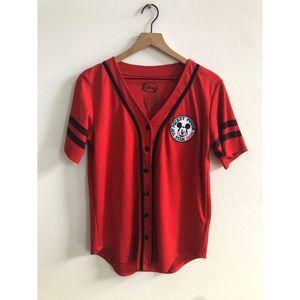 Vintage 90s Disney Mickey Mouse Baseball Jersey